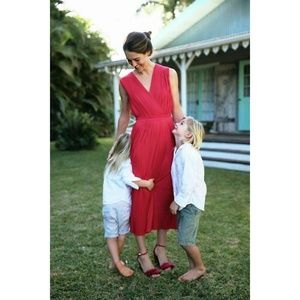 NWT  Anthropologie Tracy Reese Pleated Midi Dress